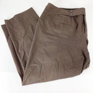 Nine West 24W Brown Dress Pants Career Straight